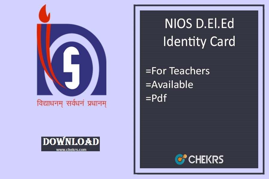nios deled identity card