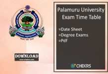 palamuru university exam time table