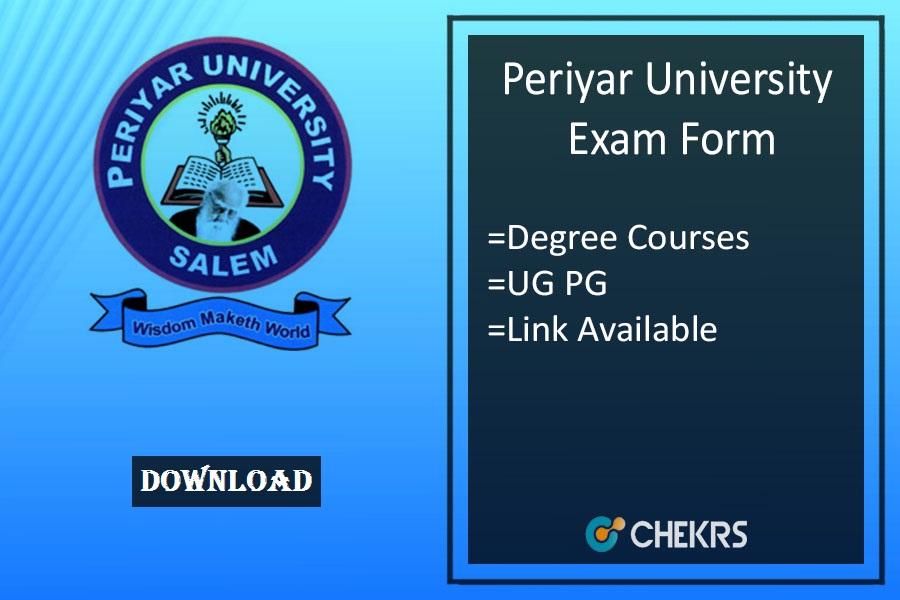 periyar university exam form
