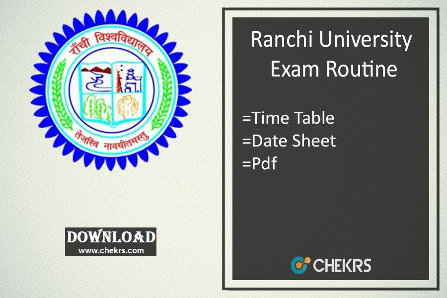ranchi university exam routine