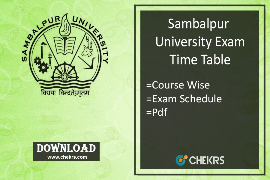 sambalpur university exam time table