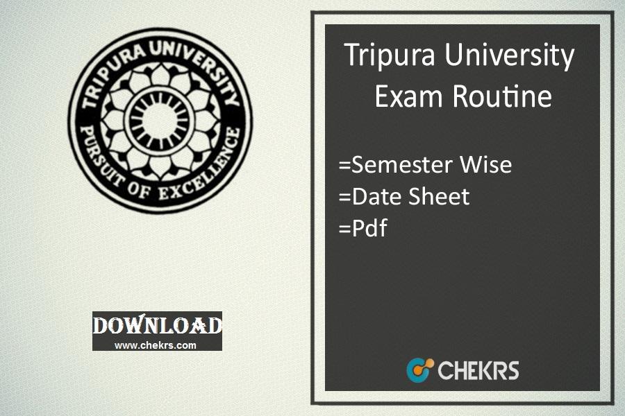 tripura university exam routine