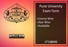unipune exam form