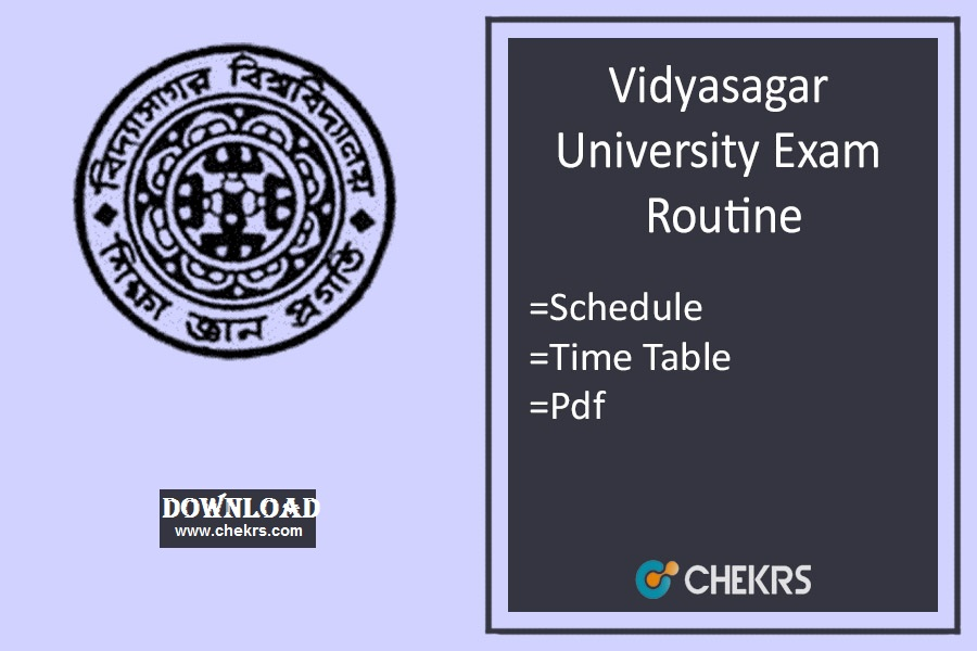 vidyasagar university exam routine