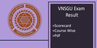 vnsgu exam result
