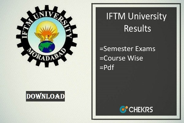 iftm university results