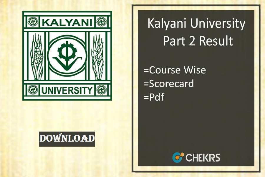 kalyani university part 2 result