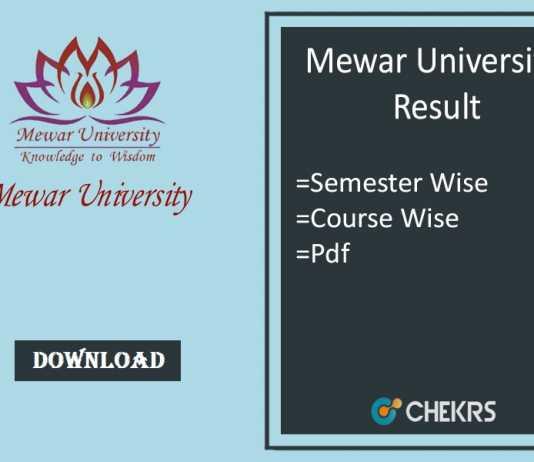 mewar university result
