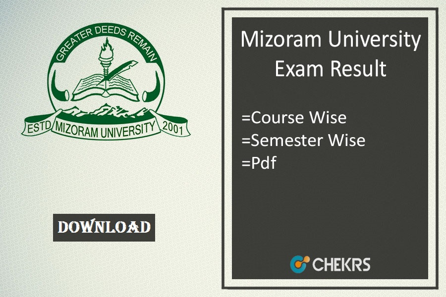 mizoram university exam result