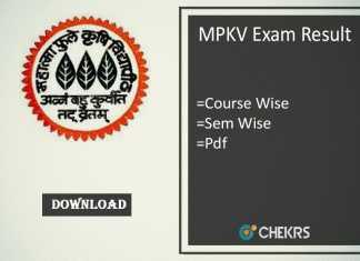 mpkv exam result