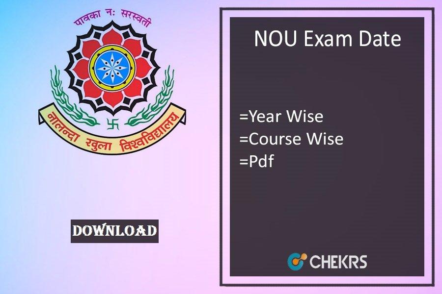 nou exam date