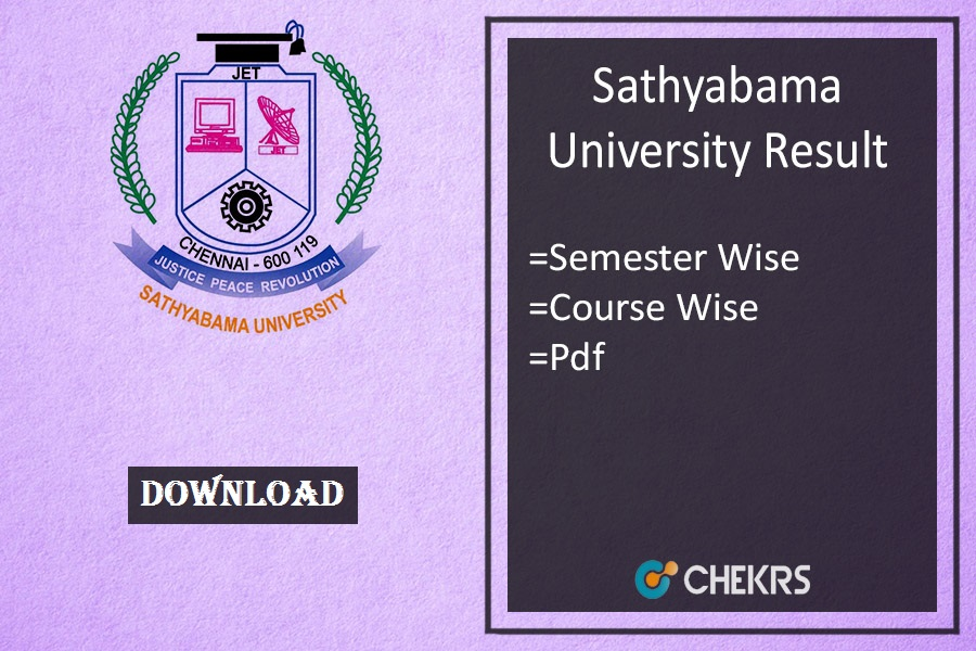 sathyabama university result