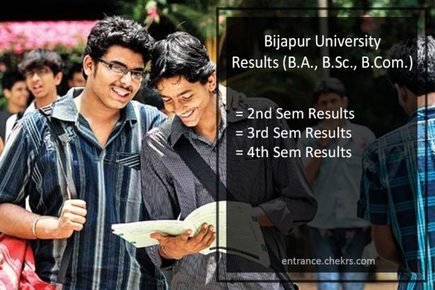 Bijapur University KSWU BA BSC BCOM Result, 2nd-4th-6th Semester Results