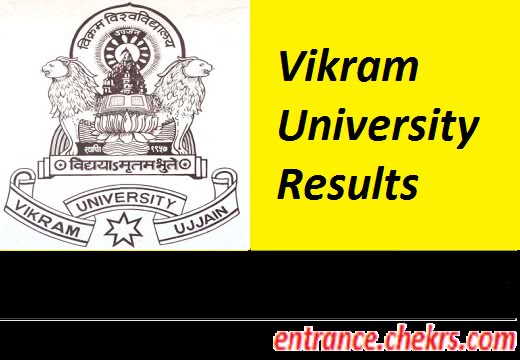 VIKRAM UNIVERSITY Even Result