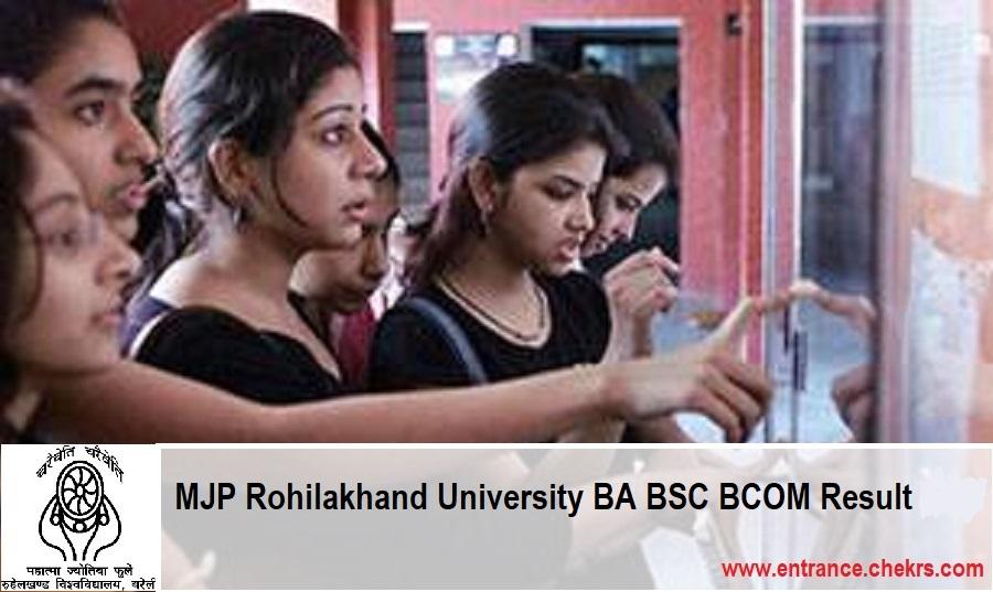 MJPRU Result Rohilakhand University BA BSC BCOM Results