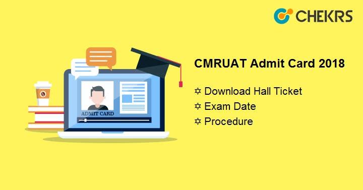 CMRUAT Admit Card