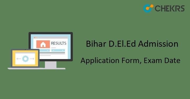 D.El.Ed Bihar Online Form
