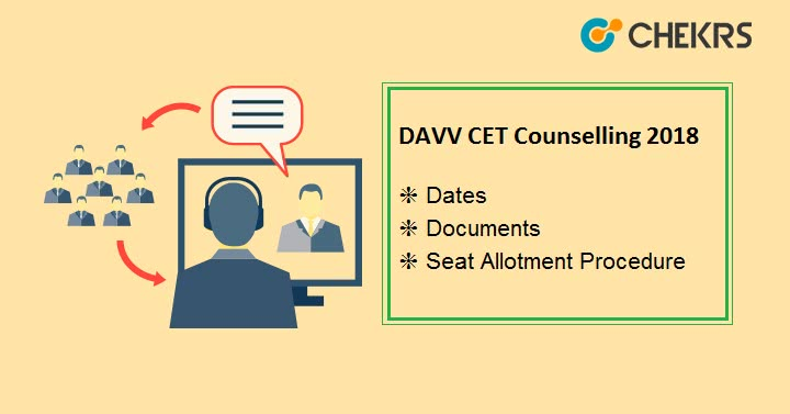DAVV CET Counselling Dates Seat Allotment Procedure