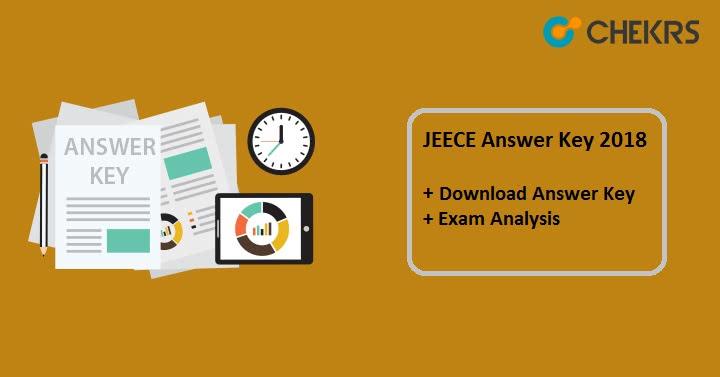 JEECE Answer Key 2019 Download Official Pdf