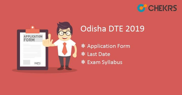 Odisha DTE Application Form Exam