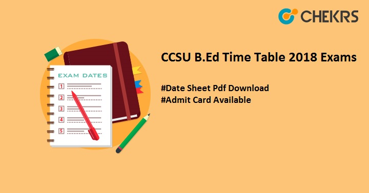 ccsu b.ed time table download