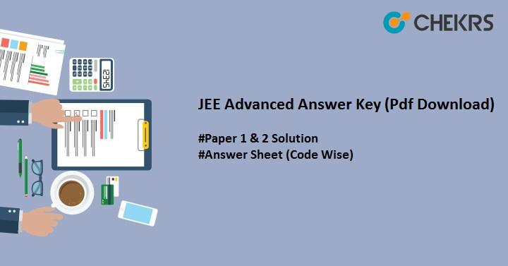 jee advanced answer key download