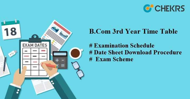 BCOM 3rd Year Time Table