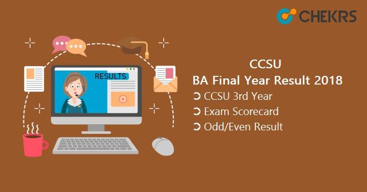 CCS University BA Final Year Result