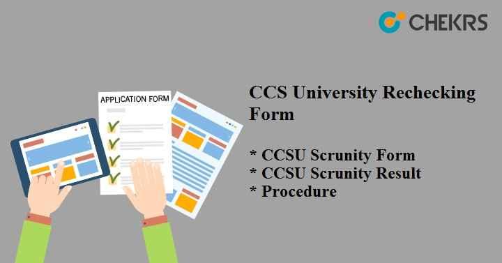 CCSU Rechecking Form