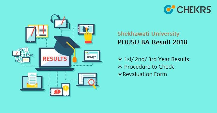 Shekhawati University (PDUSU) BA Result 2019