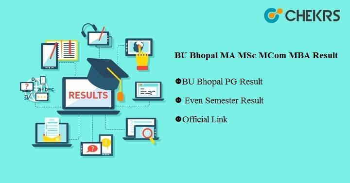 BU Bhopal MA MSC MCOM MBA Result