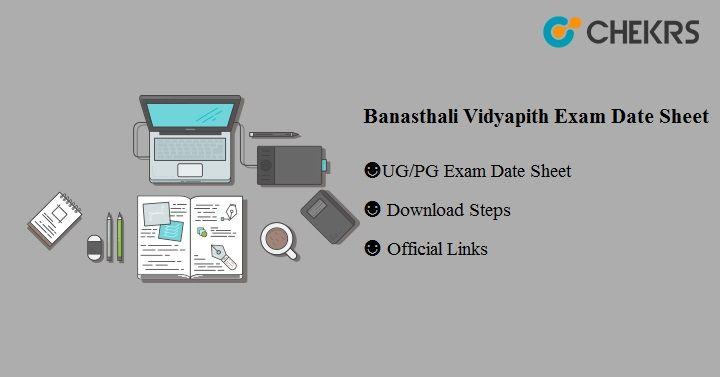 Banasthali Vidyapith Exam Date Sheet