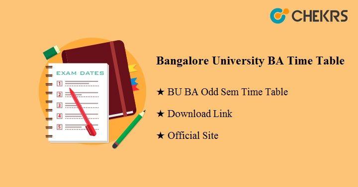 Bangalore University BA Time Table