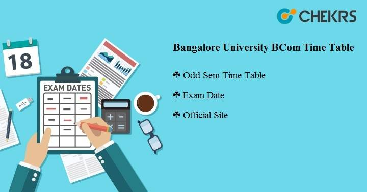 Bangalore University BCOM Time Table