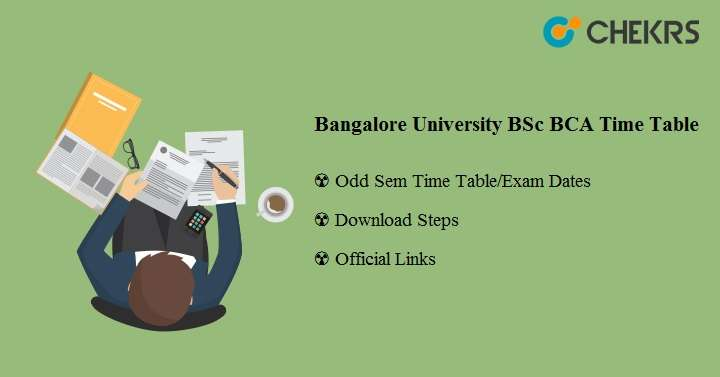 Bangalore University BSc BCA Time Table