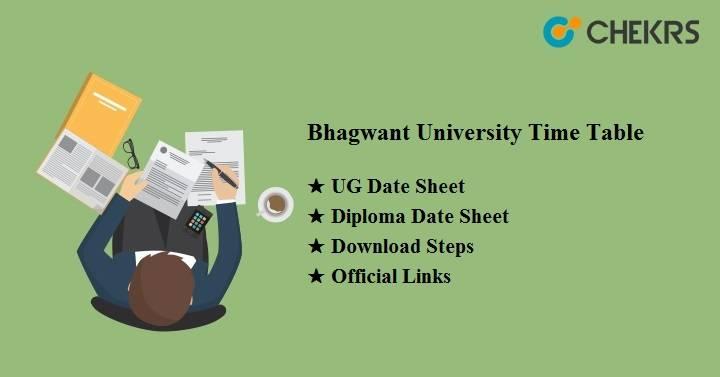 Bhagwant University Time Table