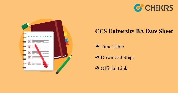 CCS University BA Date Sheet