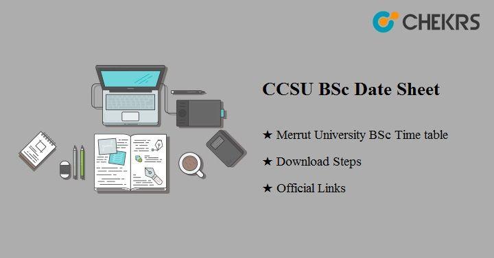 CCS University BSc Date Sheet