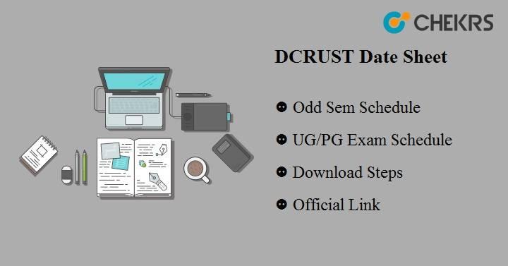 DCRUST Date Sheet