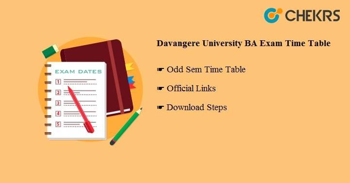 Davangere University BA Exam Time Table