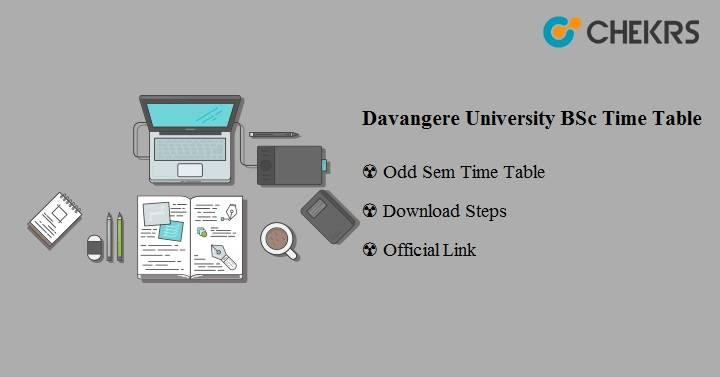 Davangere University BSc Time Table