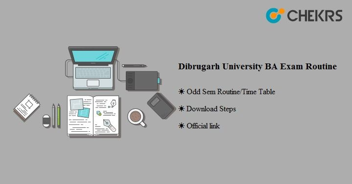 Dibrugarh University BA Exam Routine