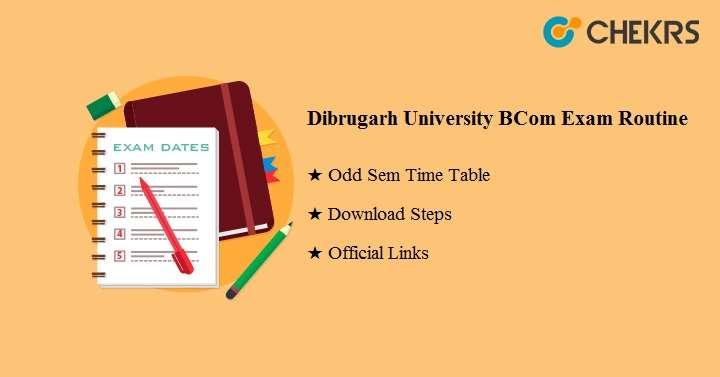 Dibrugarh University B.Com Exam Routine