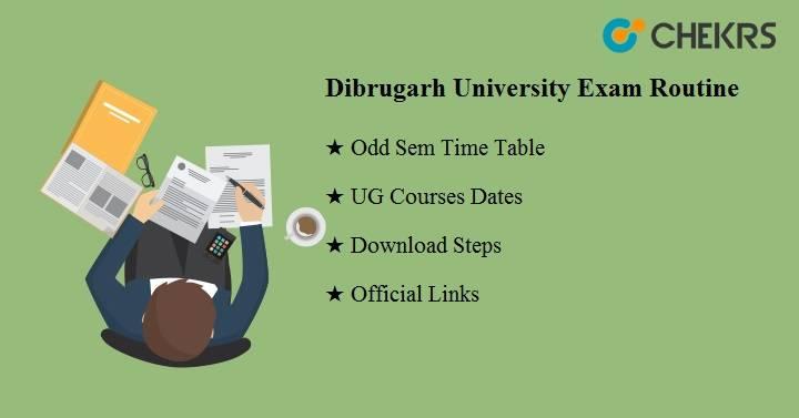 Dibrugarh University Exam Routine