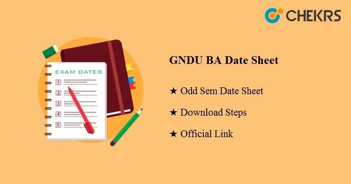 GNDU BA Date Sheet