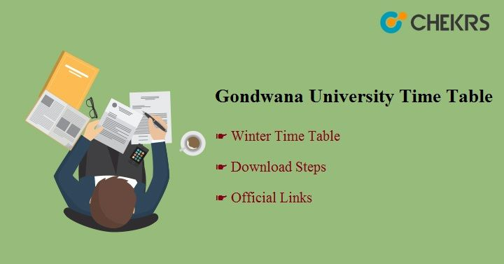 Gondwana University Time Table