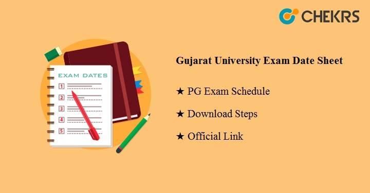 Gujarat University Exam Date Sheet