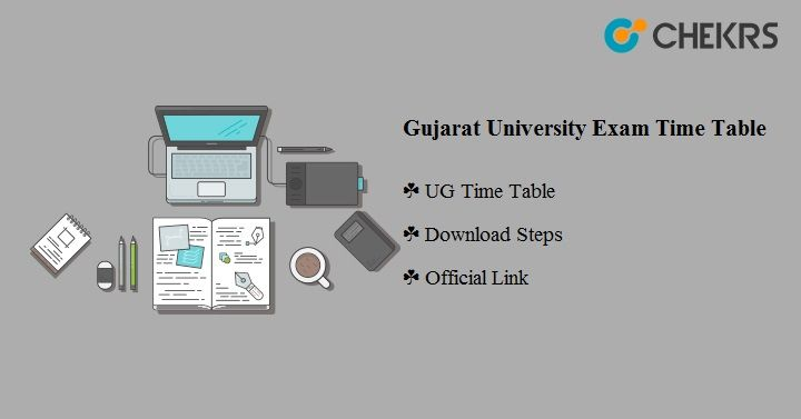 Gujarat University Exam Time Table