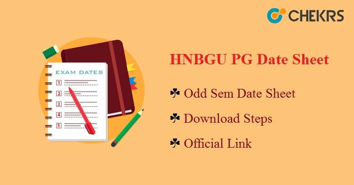 HNBGU PG Date Sheet