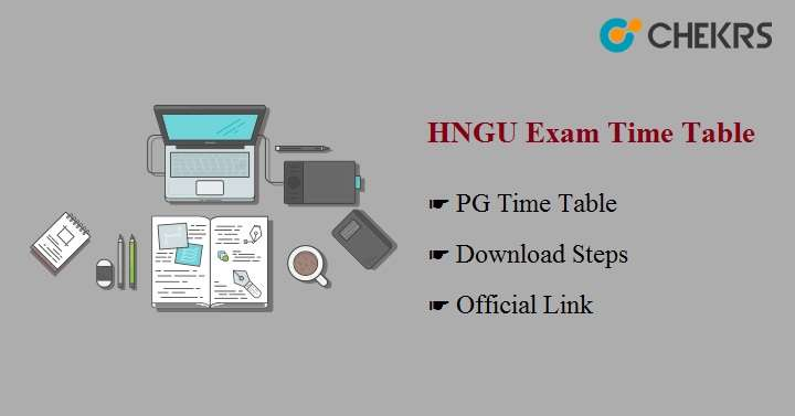 HNGU Exam Time Table